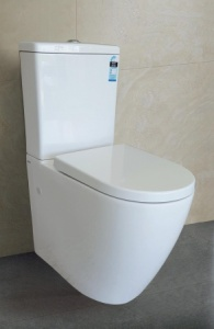 Slim K-021 Raised Height Wall Faced Toilet Suite