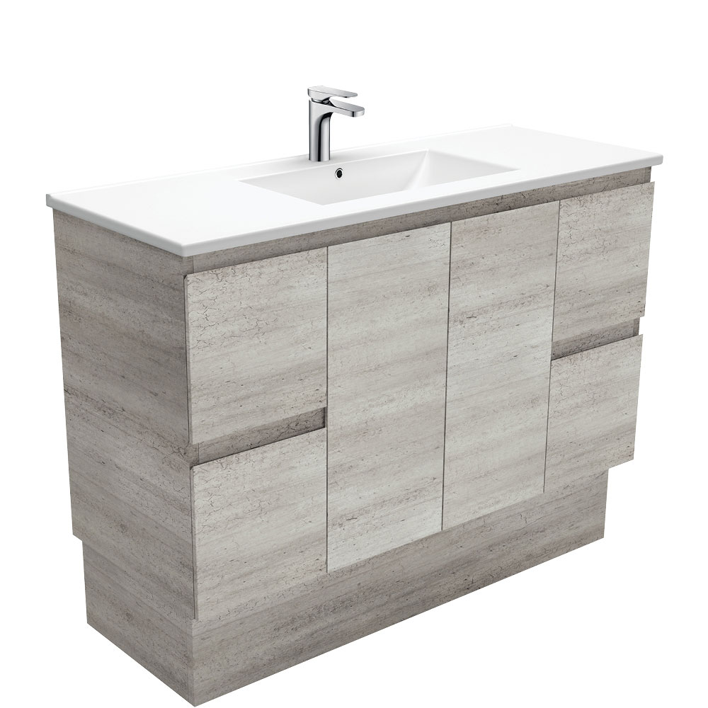 Dolce Edge Industrial 1200 Vanity on Kickboard