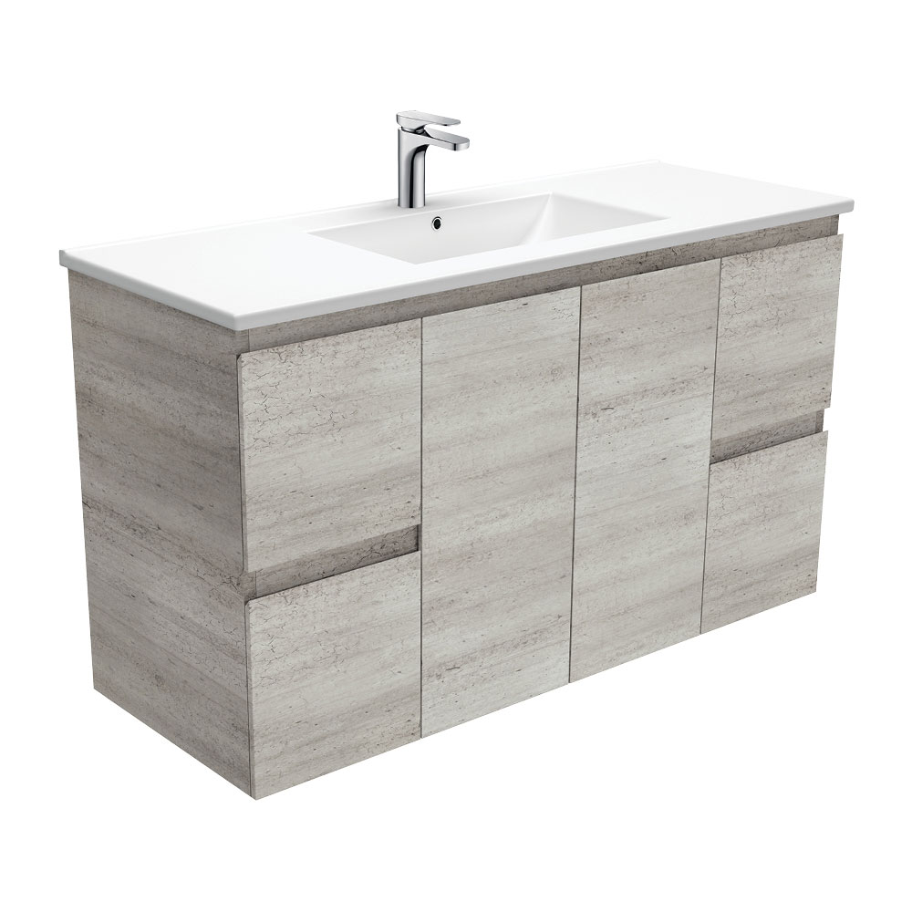 Dolce Edge Industrial 1200 Wall-Hung Vanity