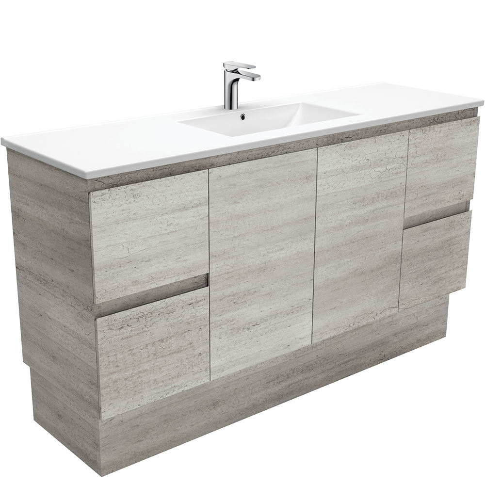 Dolce Edge Industrial 1500 Single Bowl Vanity on Kickboard
