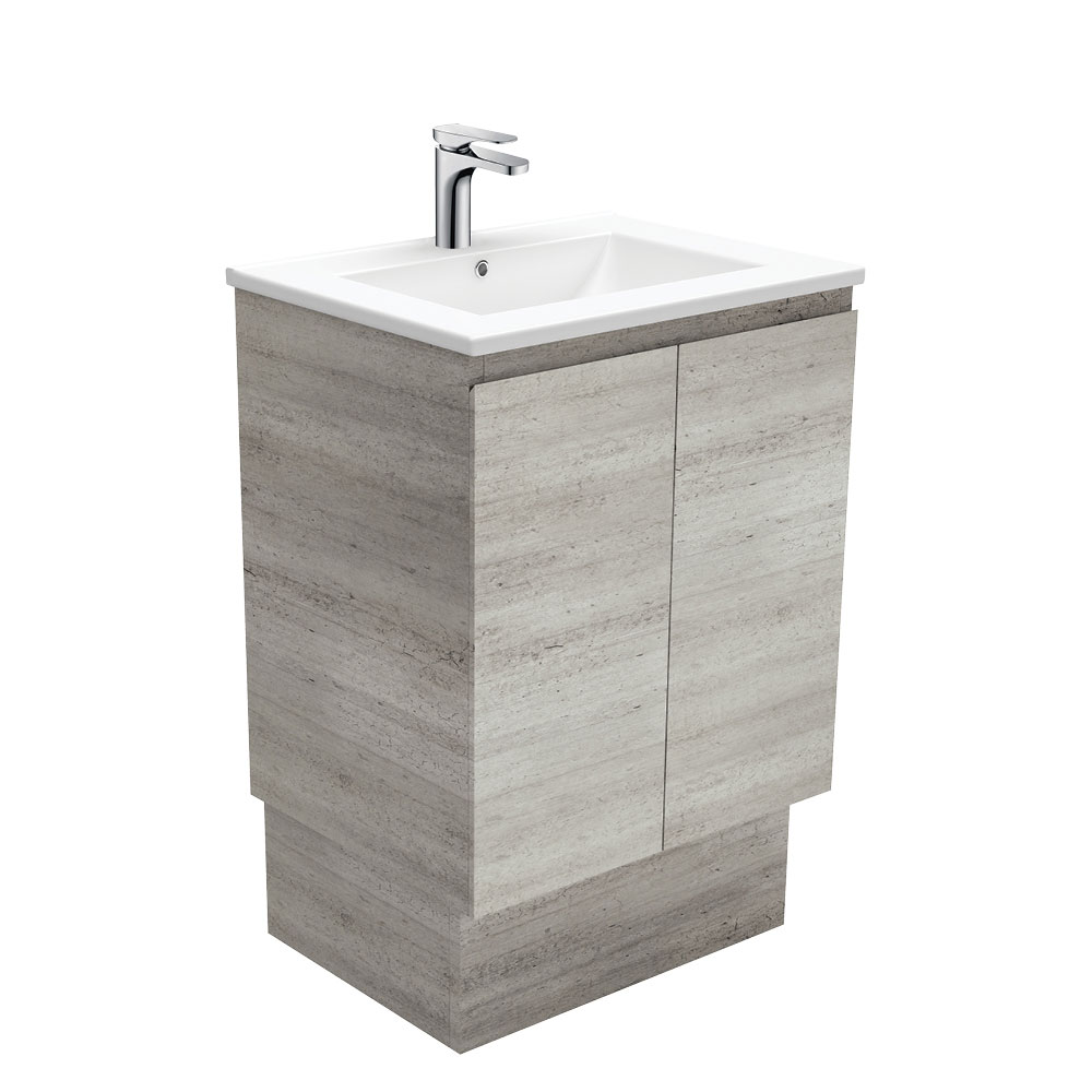 Dolce Edge Industrial 600 Vanity on Kickboard