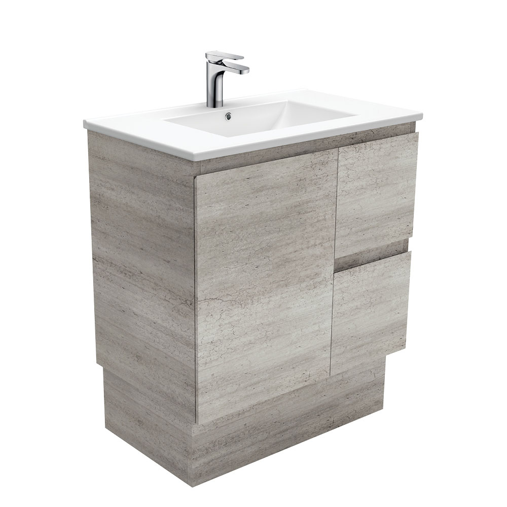 Dolce Edge Industrial 750 Vanity on Kickboard