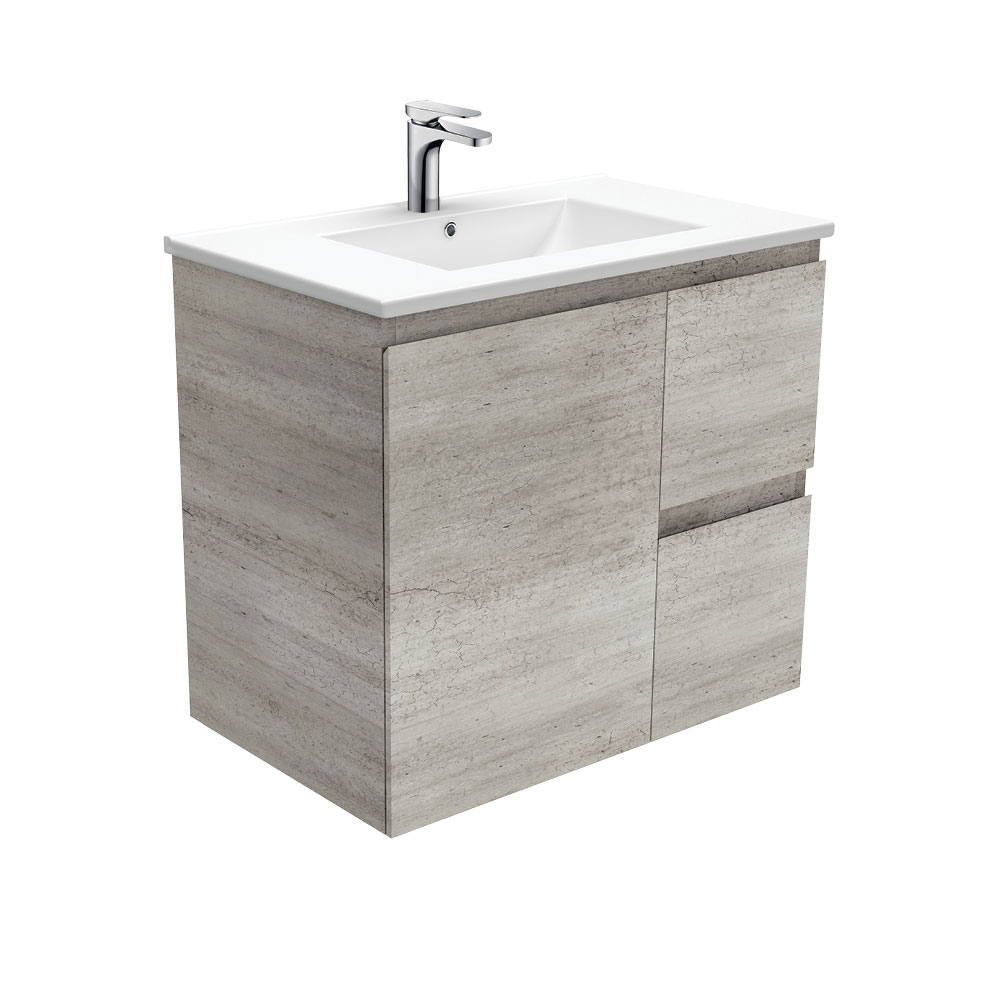 Dolce Edge Industrial 750 Wall-Hung Vanity