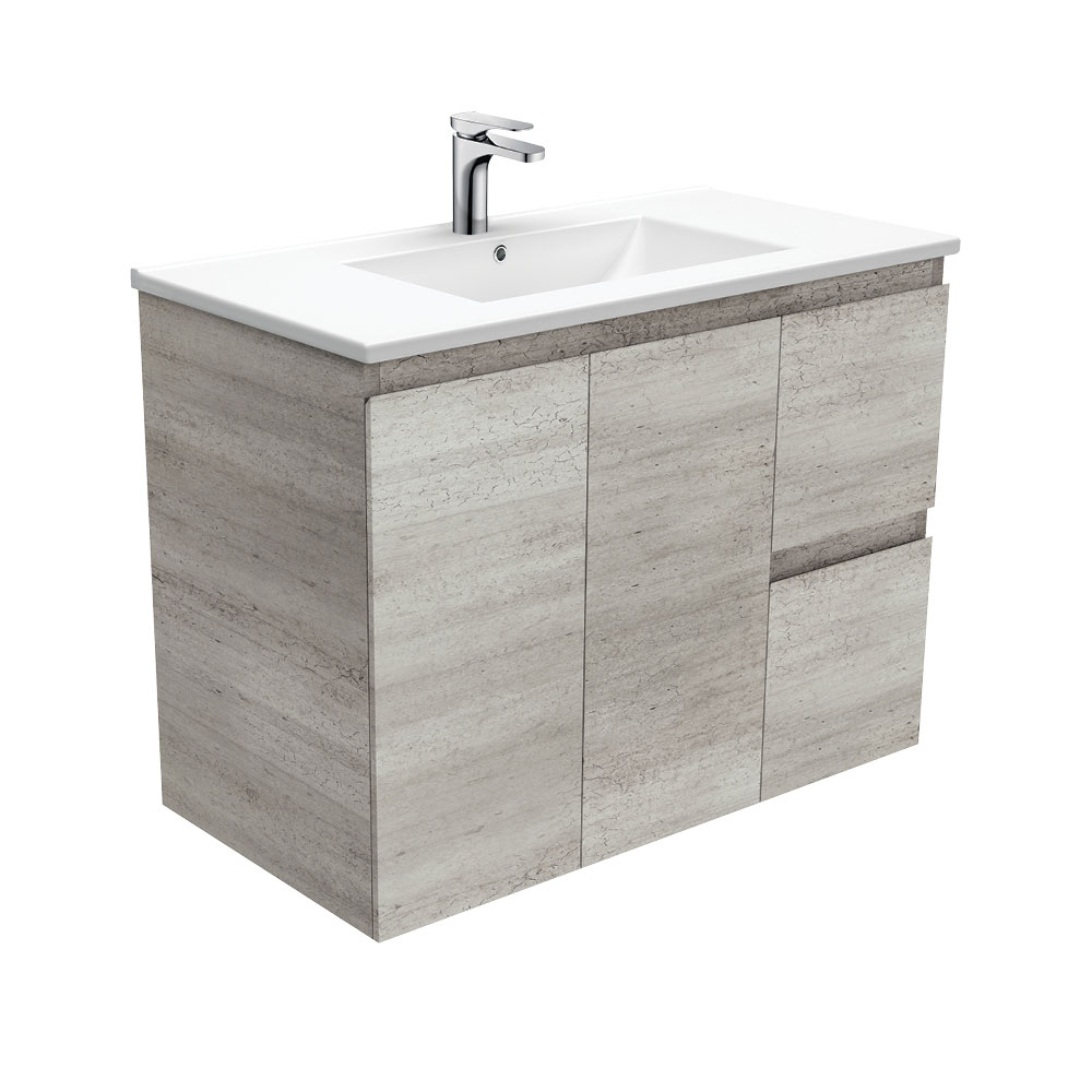 Dolce Edge Industrial 900 Wall-Hung Vanity