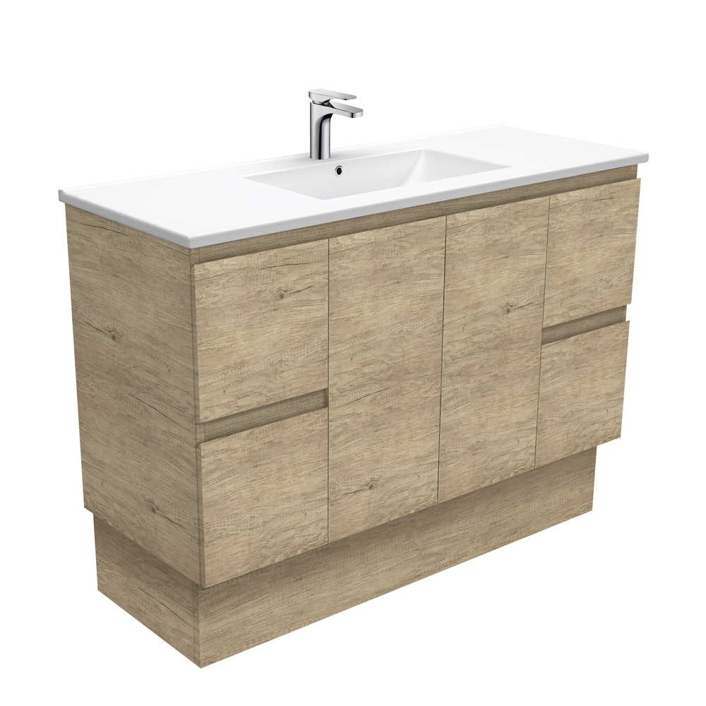 Dolce Edge Scandi Oak 1200 Vanity on Kickboard