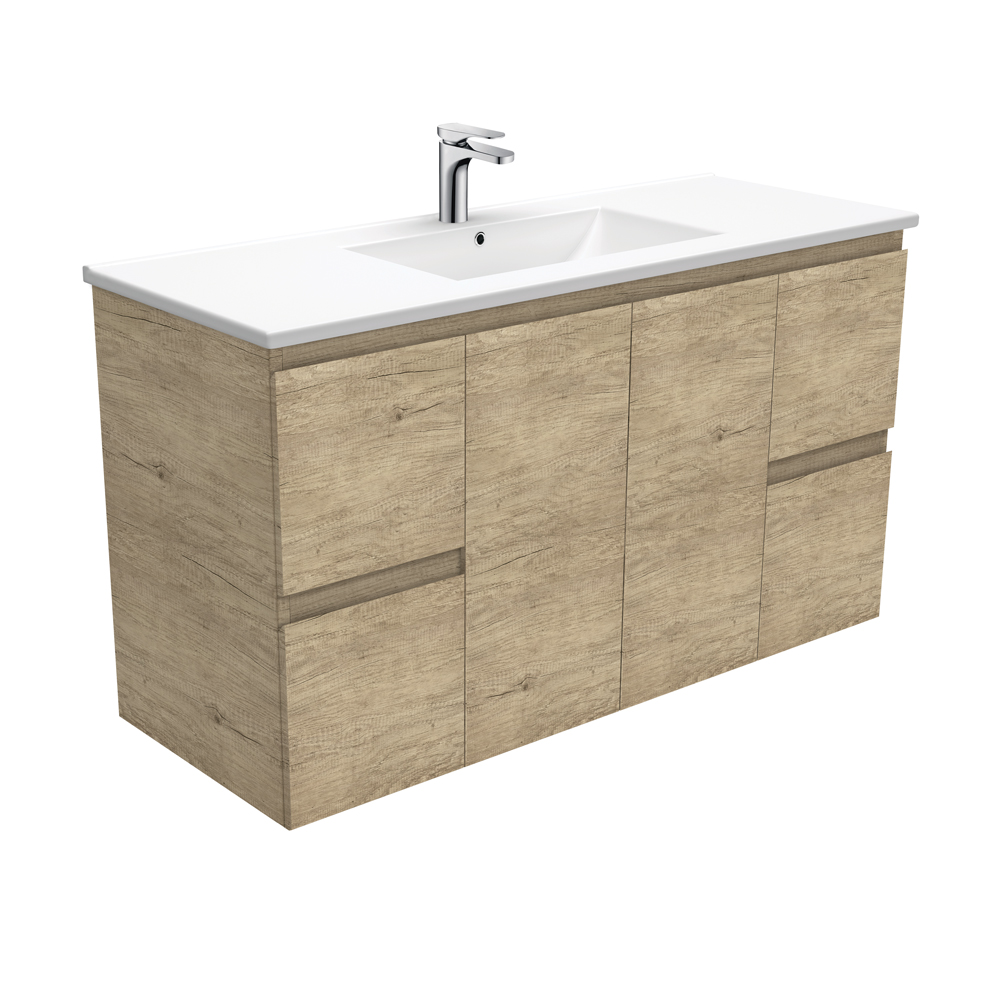 Dolce Edge Scandi Oak 1200 Wall-Hung Vanity