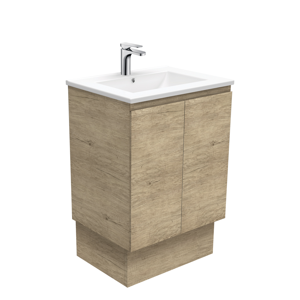 Dolce Edge Scandi Oak 600 Vanity on Kickboard