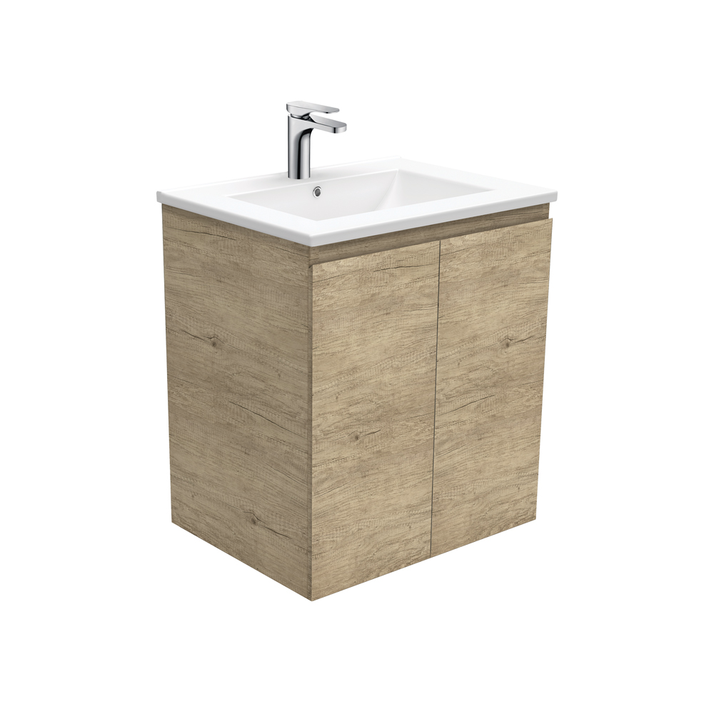 Dolce Edge Scandi Oak 600 Wall-Hung Vanity