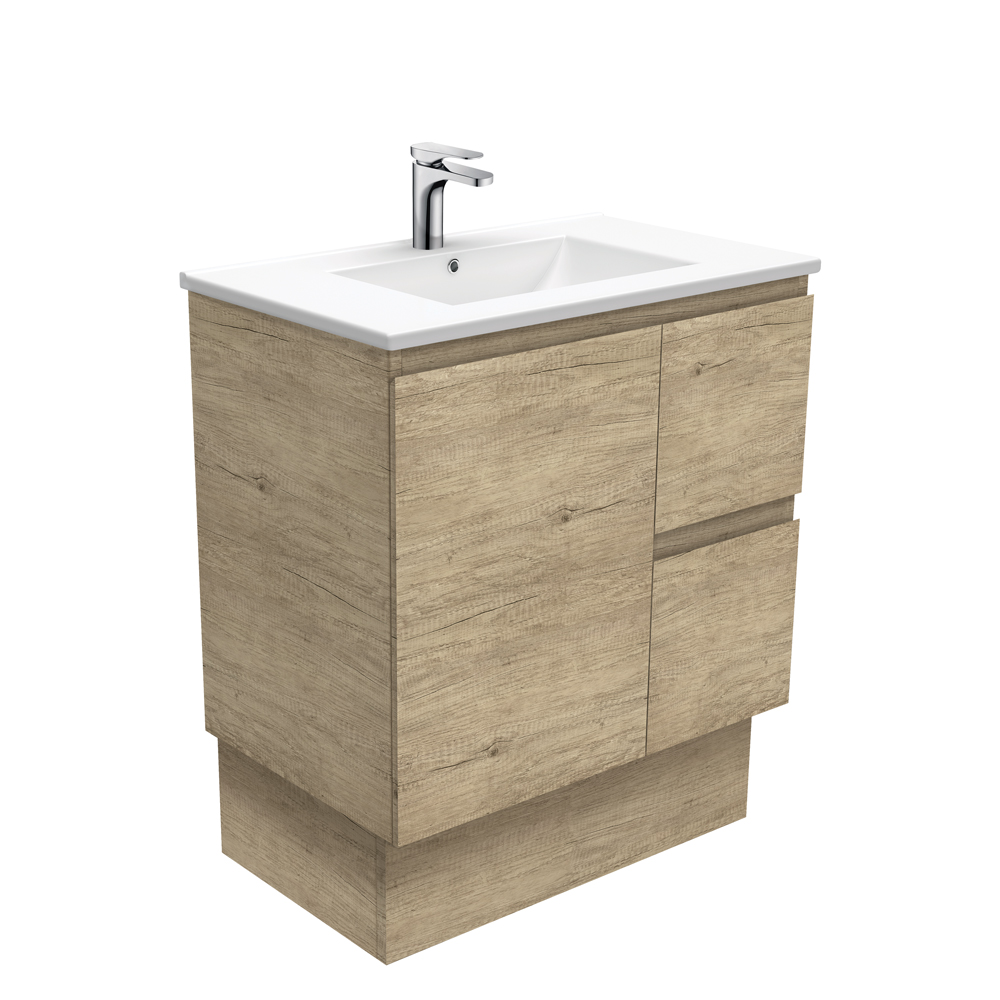 Dolce Edge Scandi Oak 750 Vanity on Kickboard