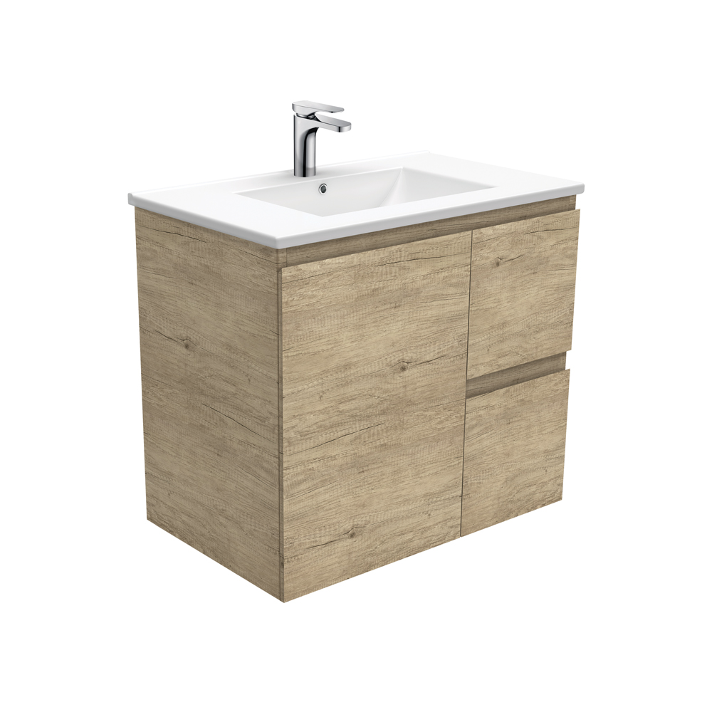 Dolce Edge Scandi Oak 750 Wall-Hung Vanity