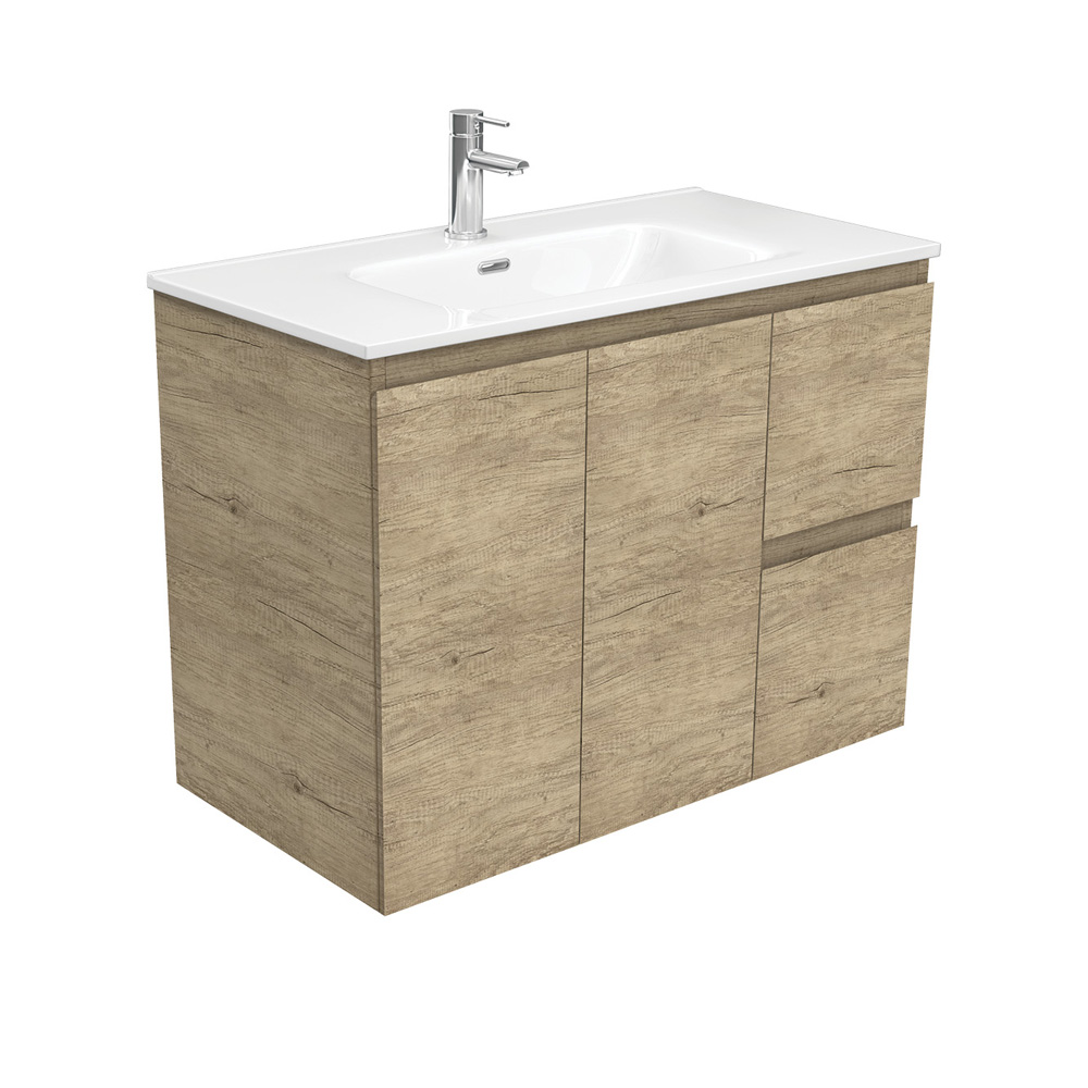 Dolce Edge Scandi Oak 900 Wall-Hung Vanity