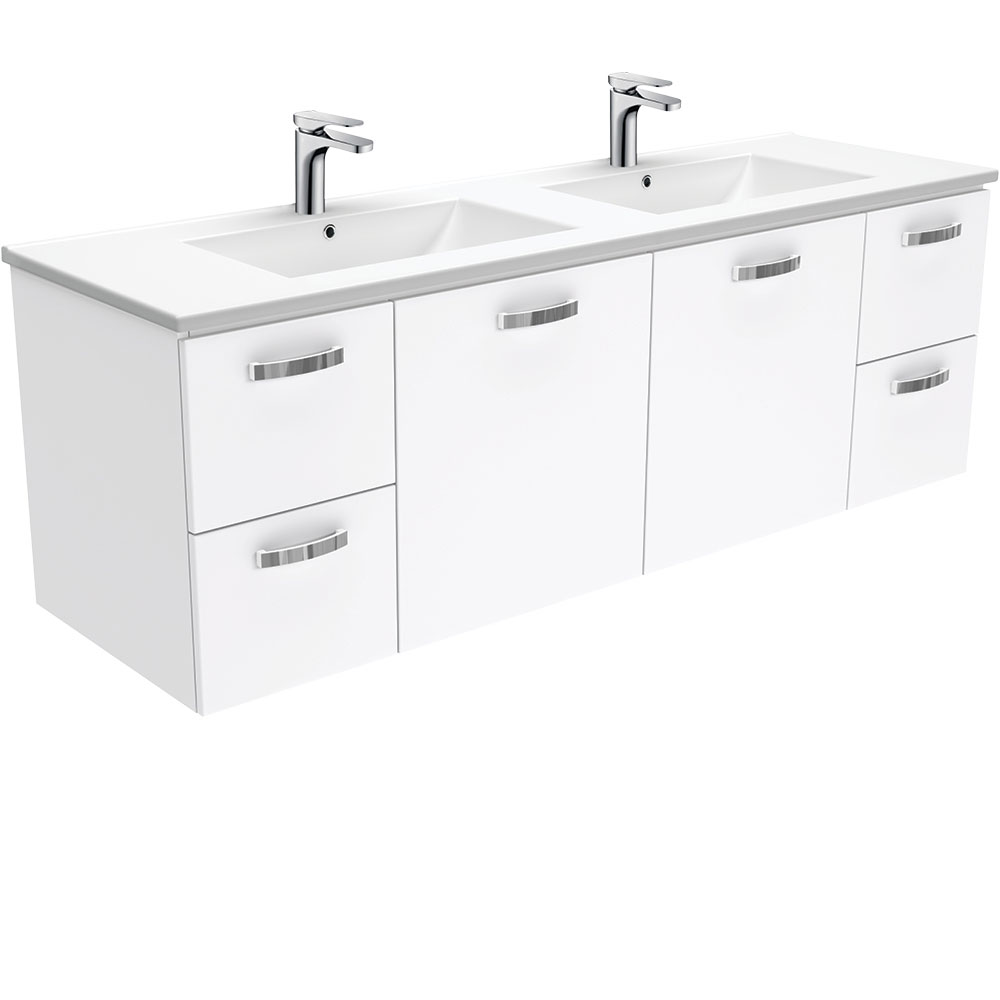 Dolce UniCab 1500 Double Bowl Wall-Hung Vanity
