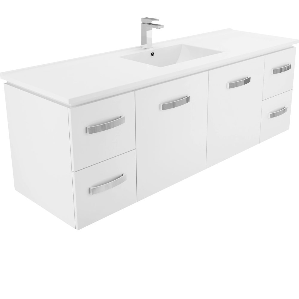 Dolce Vita Uni Cabinet Single 1500 Wall Hung Vanity