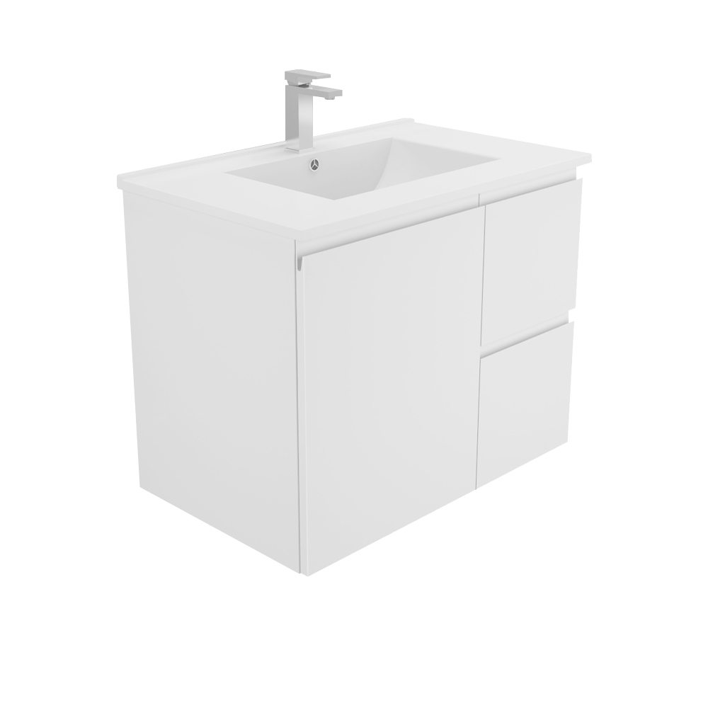 Dolce Vita 750 Wall Hung Finger Pull Vanity