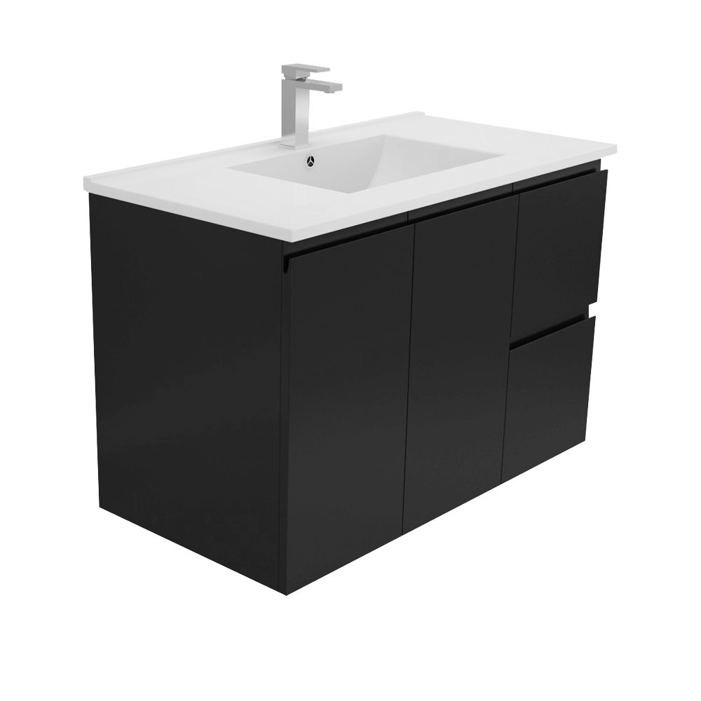 Dolce Vita 900 Black Wall Hung Vanity