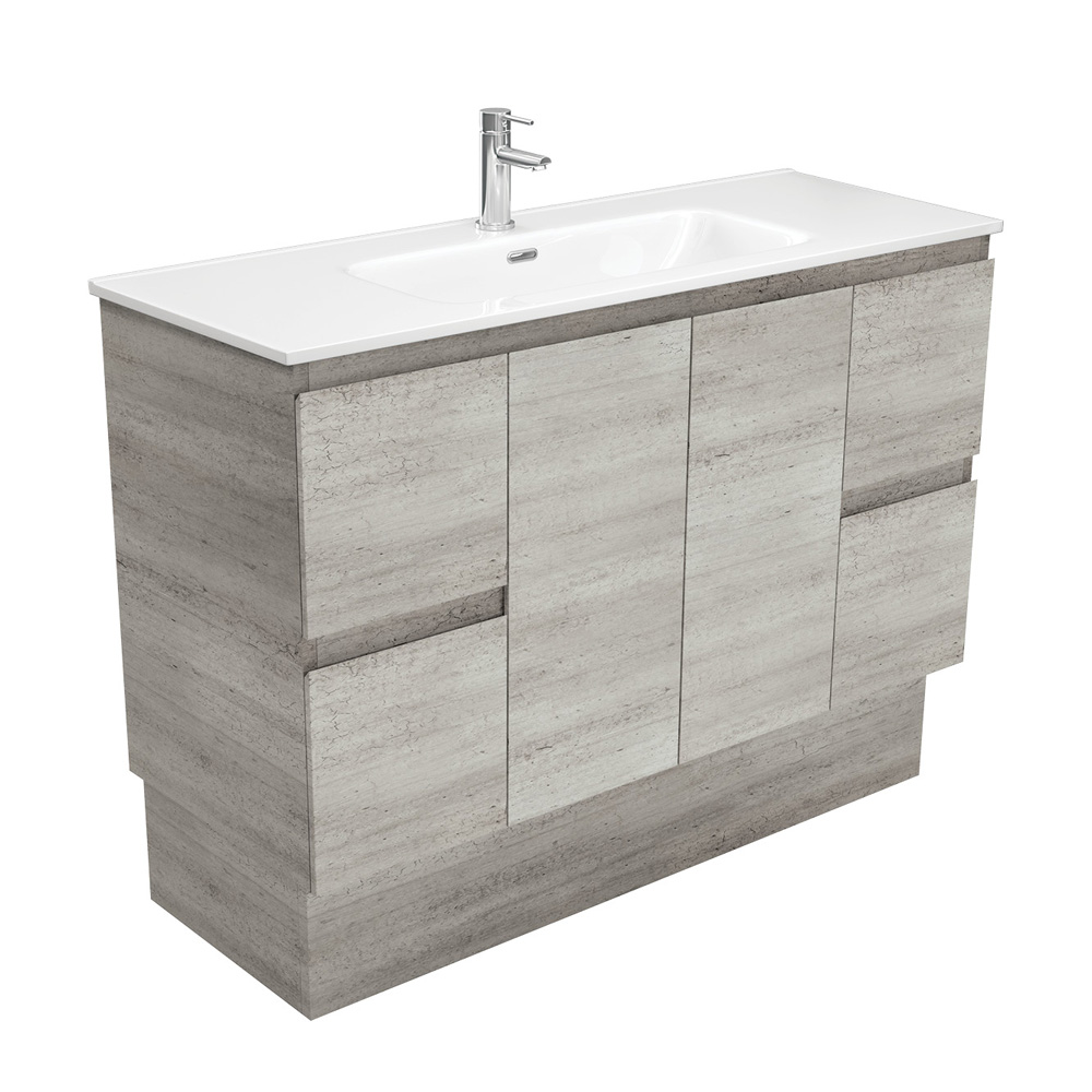 Joli Edge Industrial 1200 Vanity on Kickboard