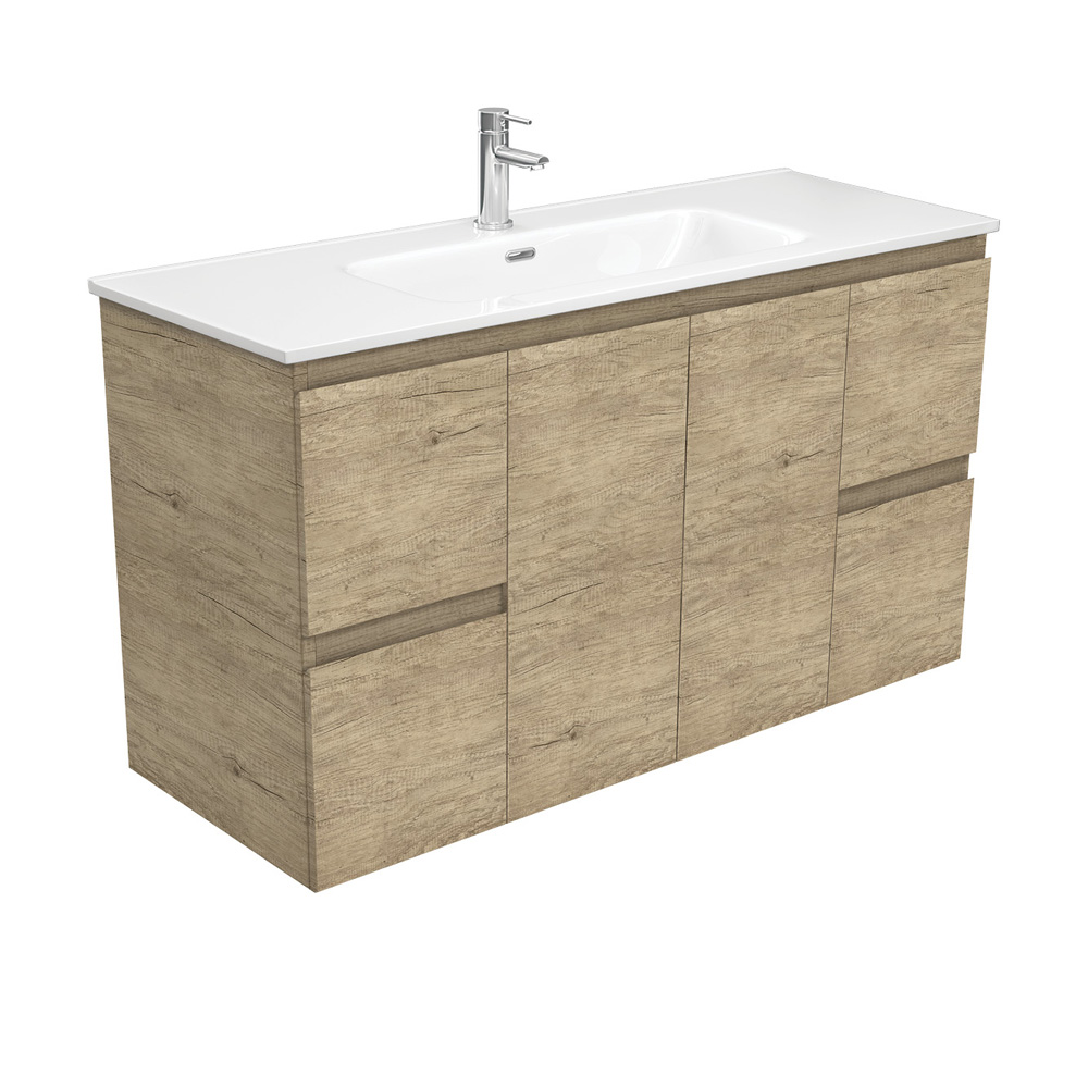 Joli Edge Scandi Oak 1200 Vanity on Kickboard