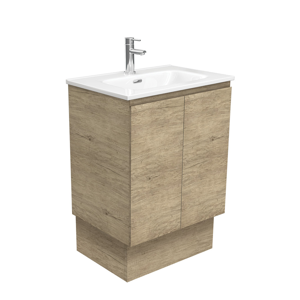 Joli Edge Scandi Oak 600 Vanity on Kickboard