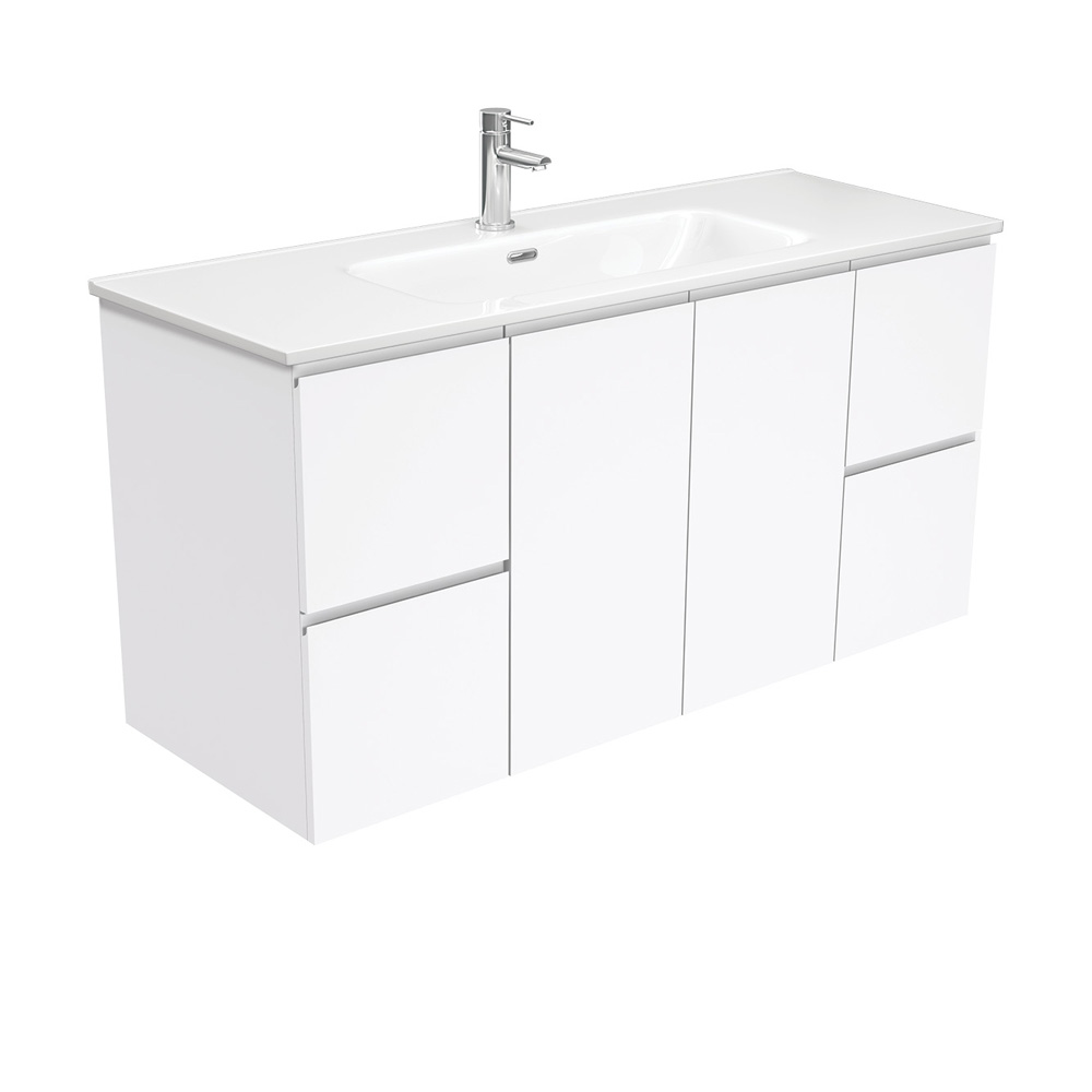 Joli Fingerpull Gloss White 1200 Wall-Hung Vanity