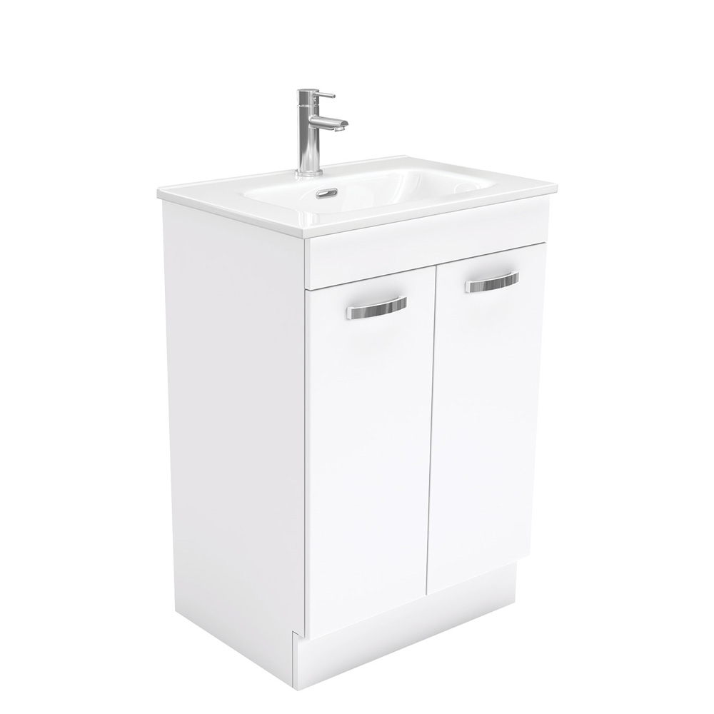 Joli Fingerpull Gloss White 600 Wall-Hung Vanity