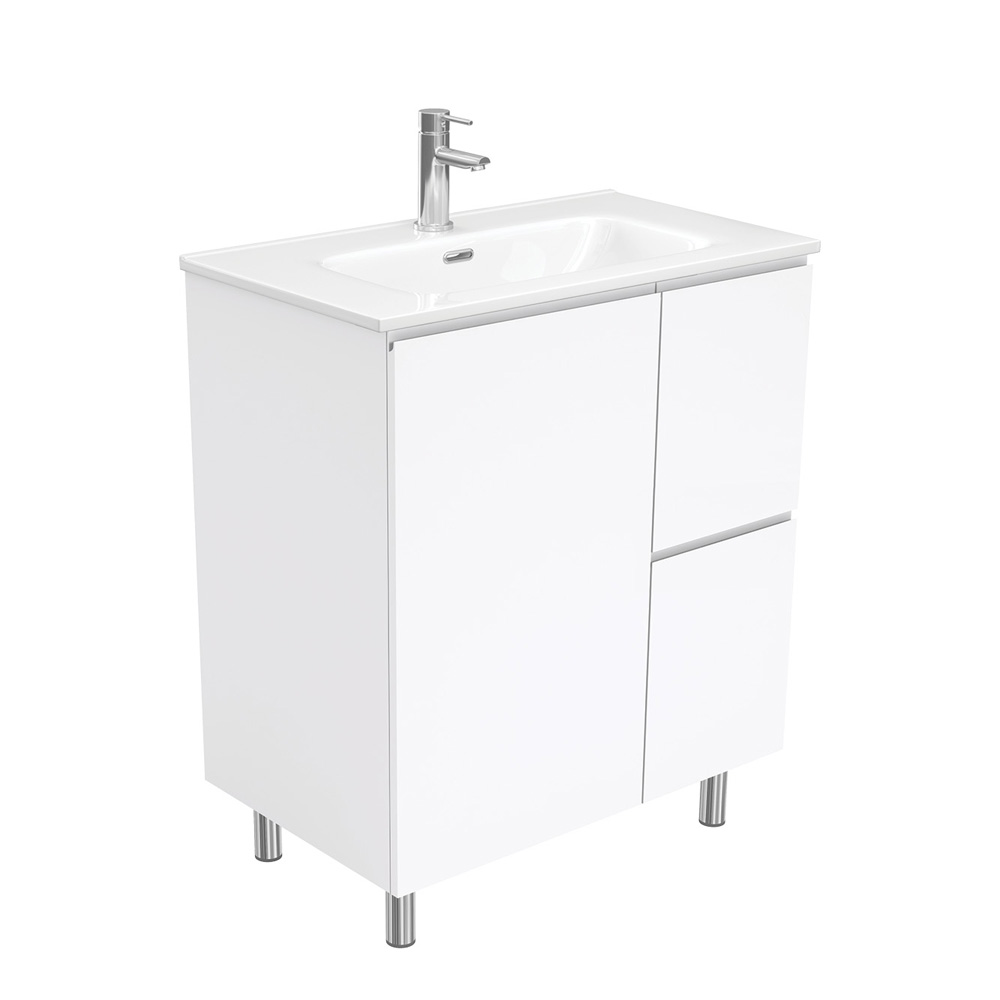 Joli Fingerpull Gloss White 750 Vanity on Legs