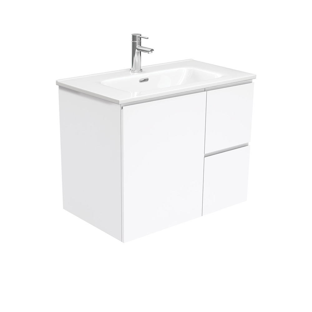 Joli Fingerpull Gloss White 750 Wall-Hung Vanity