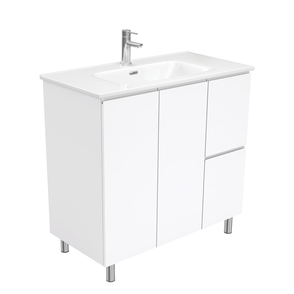 Joli Fingerpull Gloss White 900 Vanity on Legs