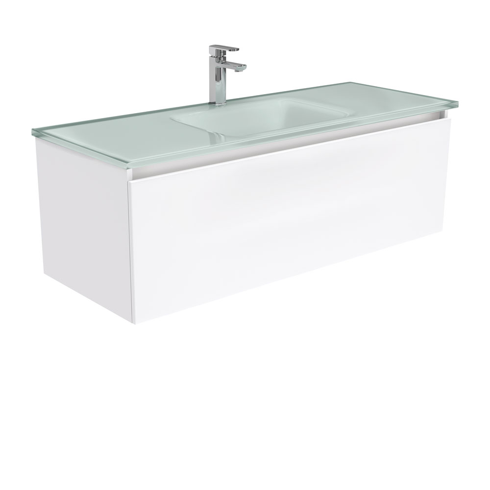 Mambo Ice Glass Manu 1200 Wall Hung Vanity