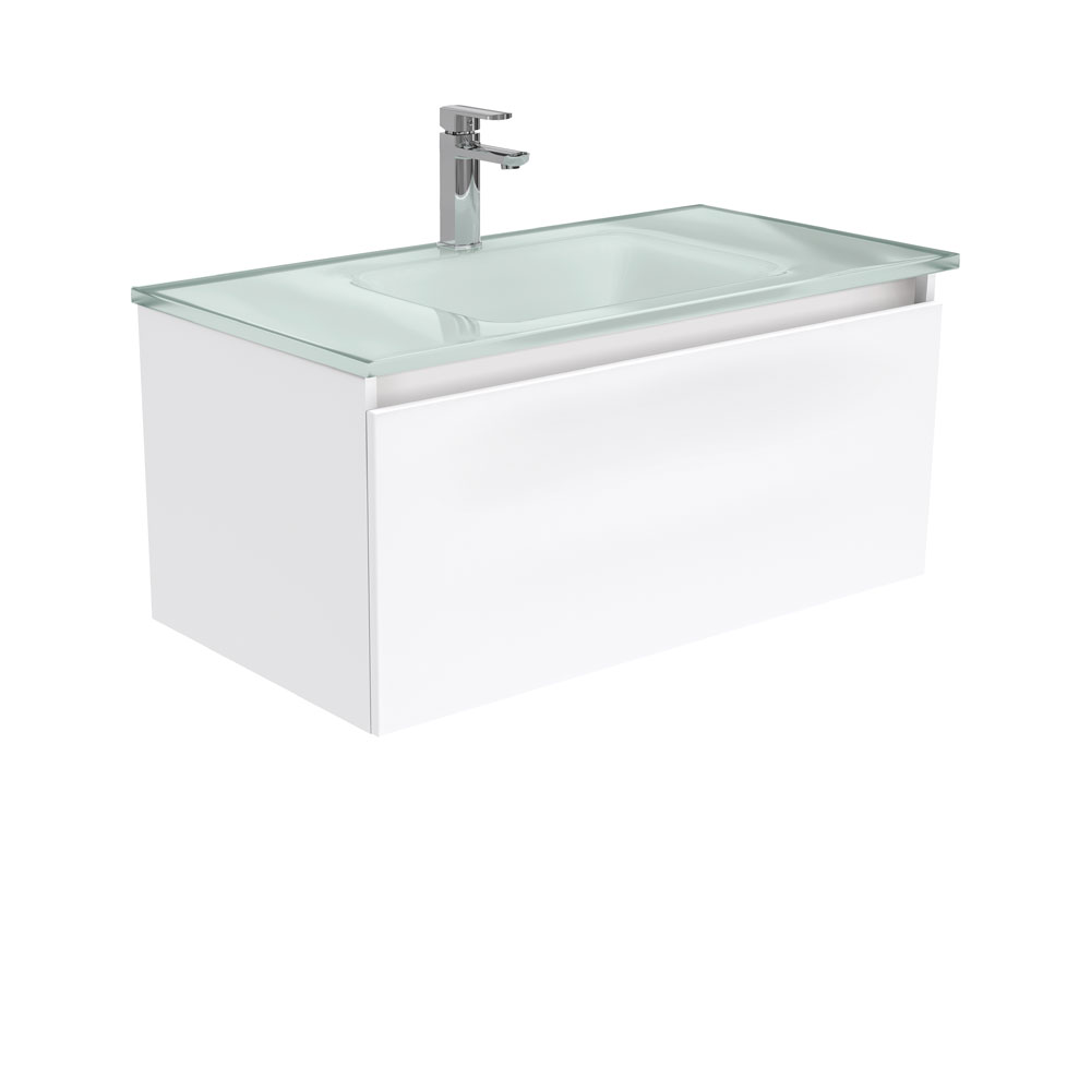 Mambo Ice Glass Manu 900 Wall Hung Vanity