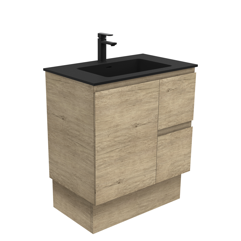 Montana Edge Scandi Oak 750 Vanity on Kickboard