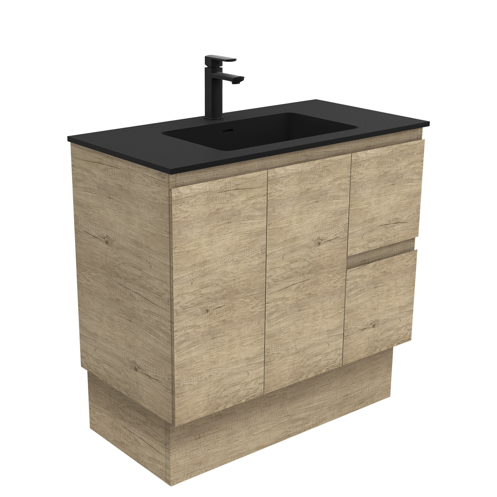 Montana Edge Scandi Oak 900 Vanity on Kickboard
