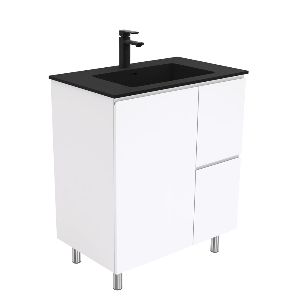 Montana Fingerpull Gloss White 750 Vanity on Legs