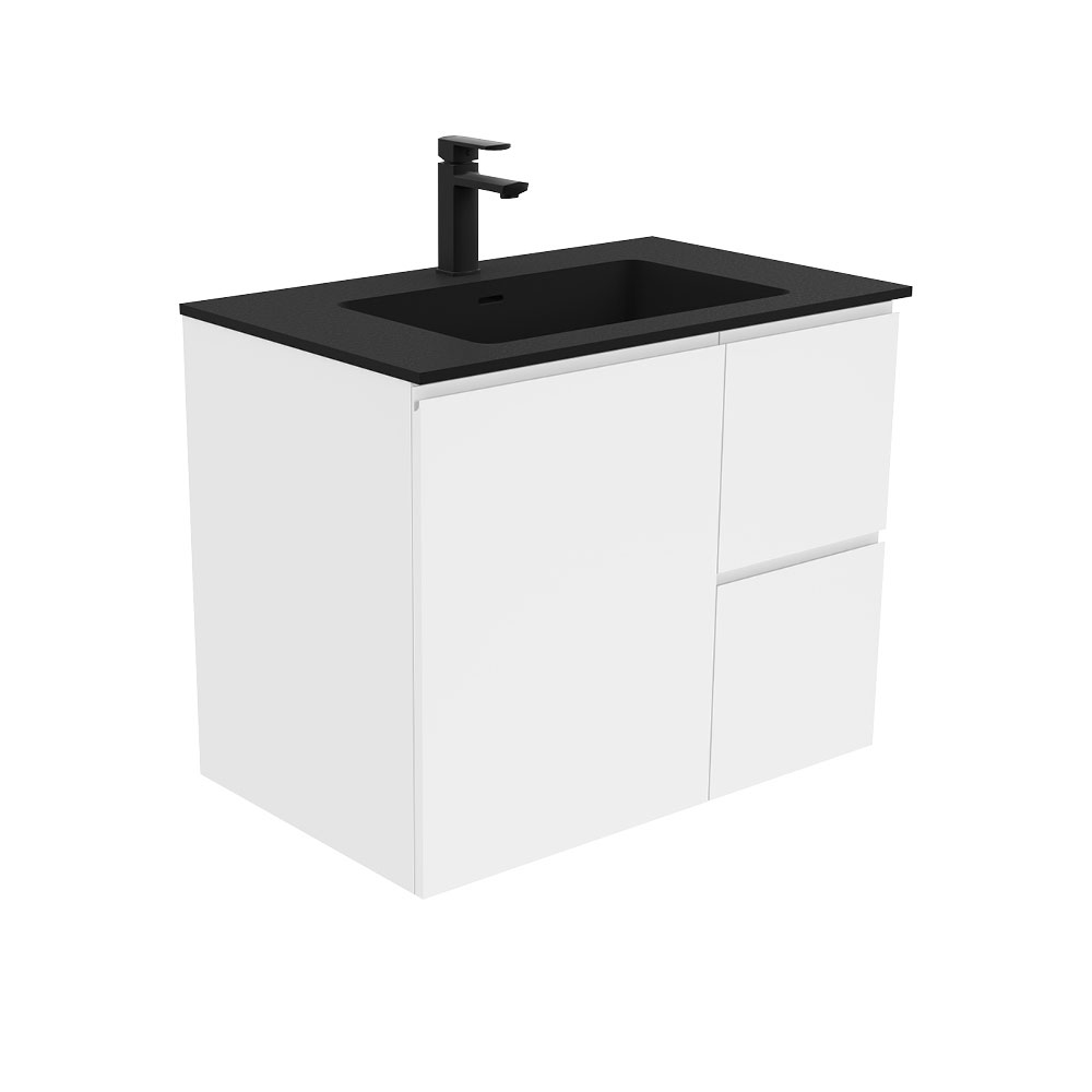 Montana Fingerpull Gloss White 750 Wall-Hung Vanity