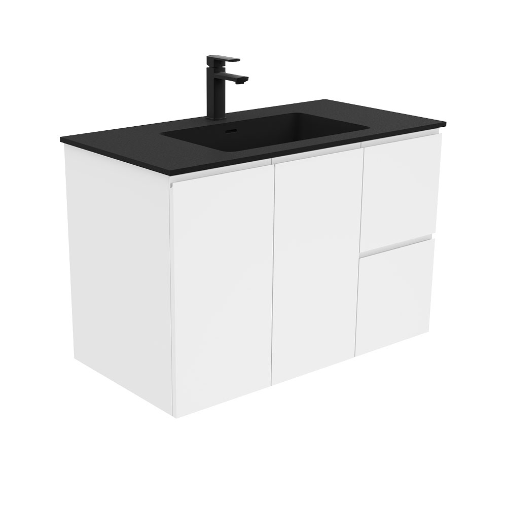 Montana Fingerpull Gloss White 900 Wall-Hung Vanity