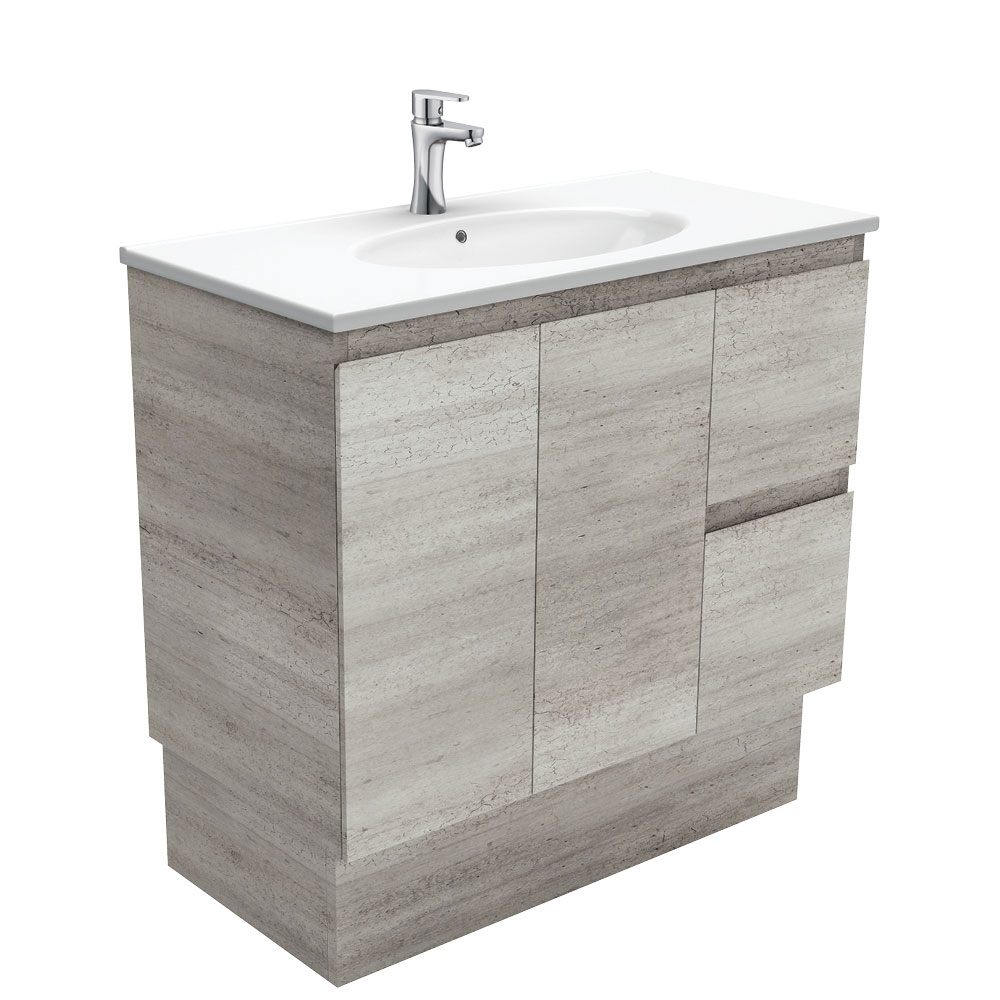 Rotondo Edge Industrial 900 Vanity on Kickboard