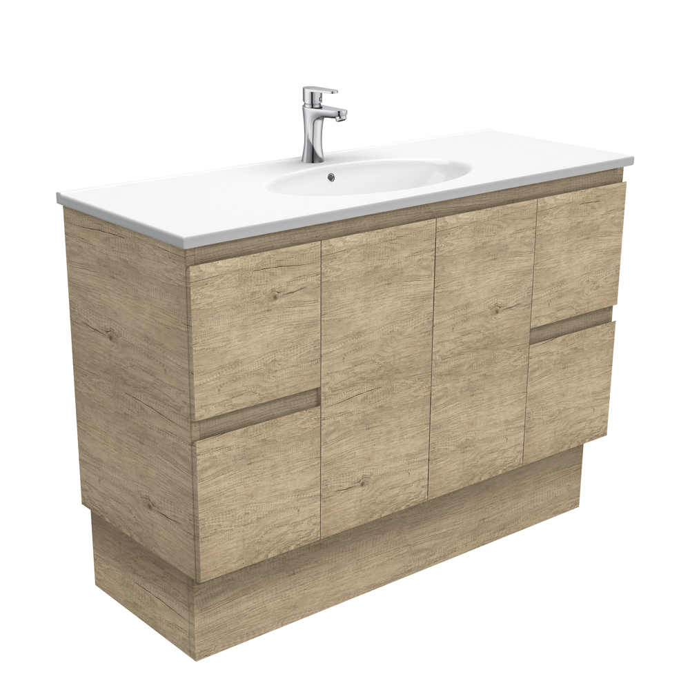 Rotondo Edge Scandi Oak 1200 Vanity on Kickboard