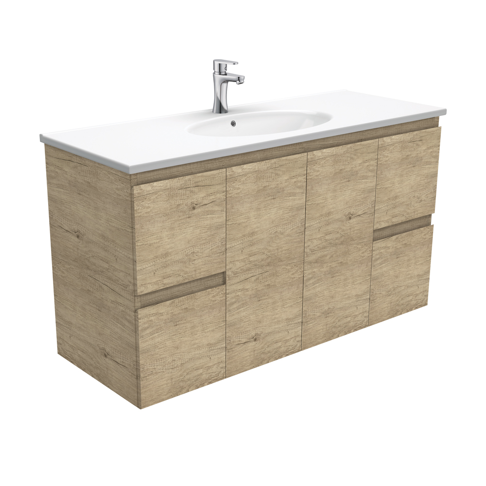 Rotondo Edge Scandi Oak 1200 Wall-Hung Vanity