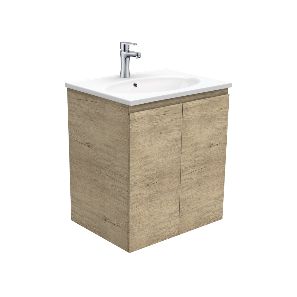 Rotondo Edge Scandi Oak 600 Wall-Hung Vanity
