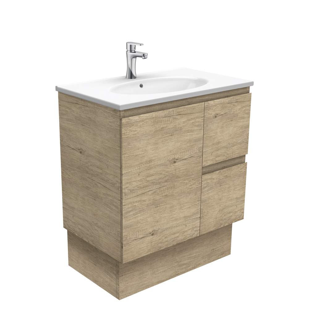 Rotondo Edge Scandi Oak 750 Vanity on Kickboard