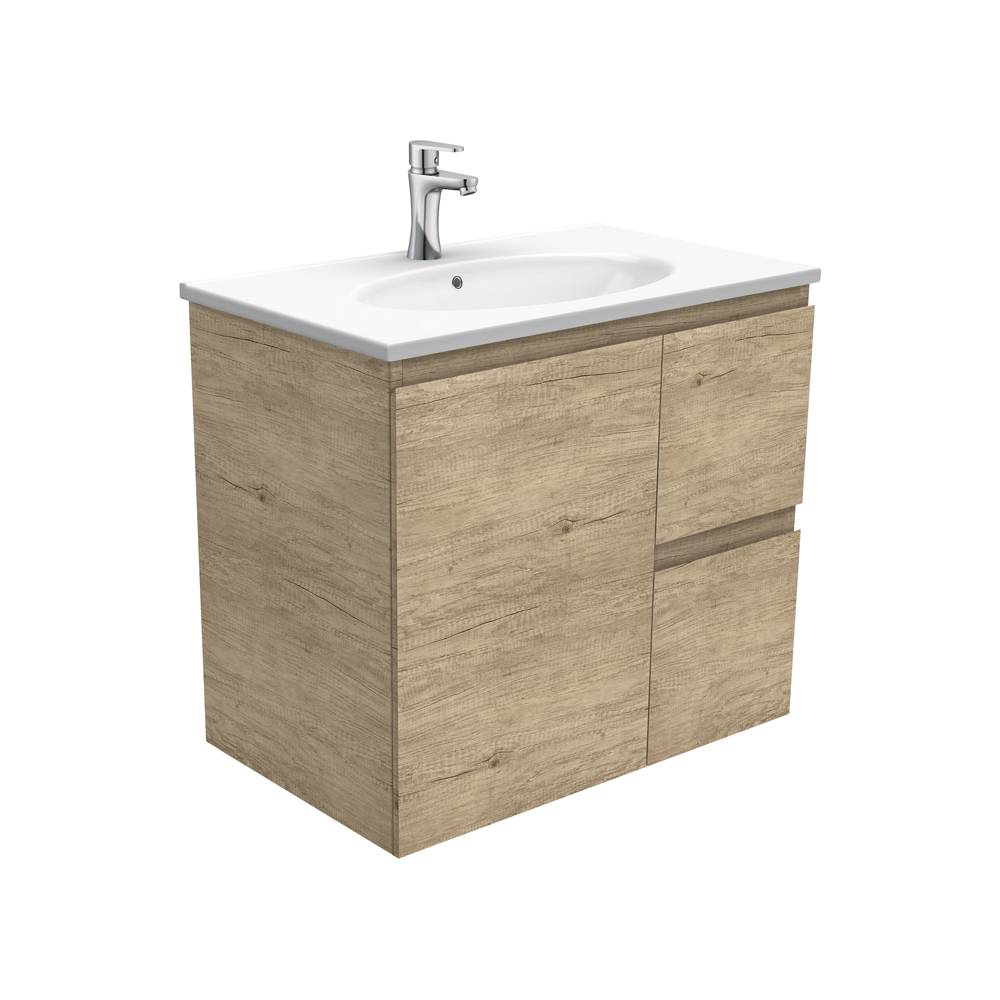 Rotondo Edge Scandi Oak 750 Wall-Hung Vanity