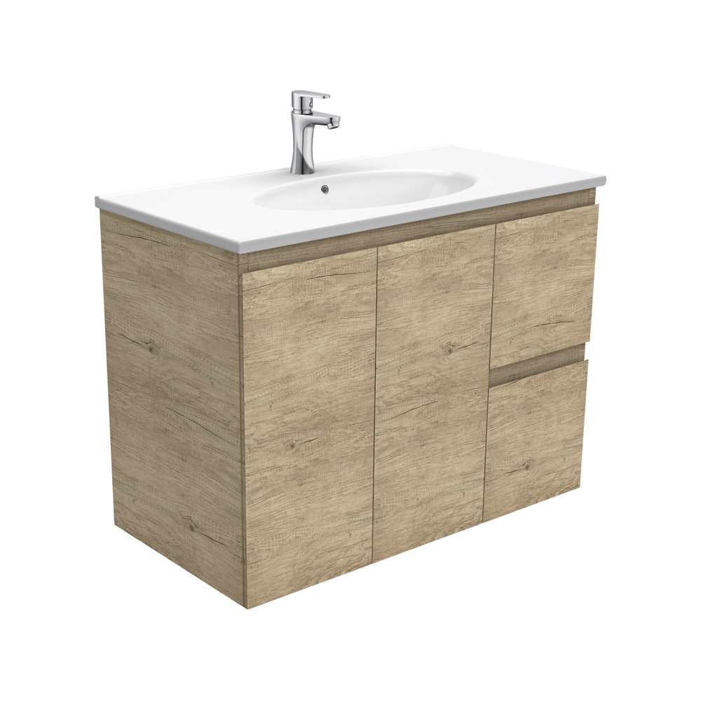 Rotondo Edge Scandi Oak 900 Wall-Hung Vanity