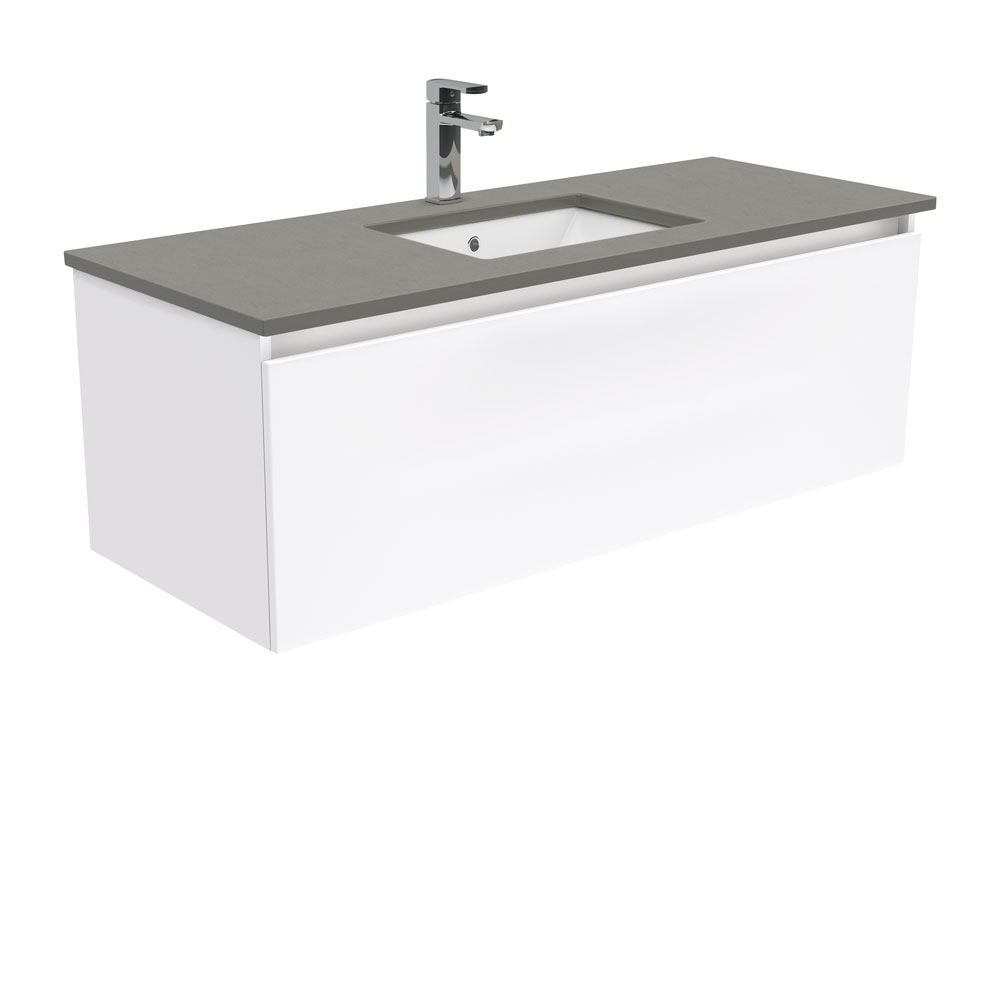 Sarah Dove Grey Manu 1200 Wall Hung Vanity