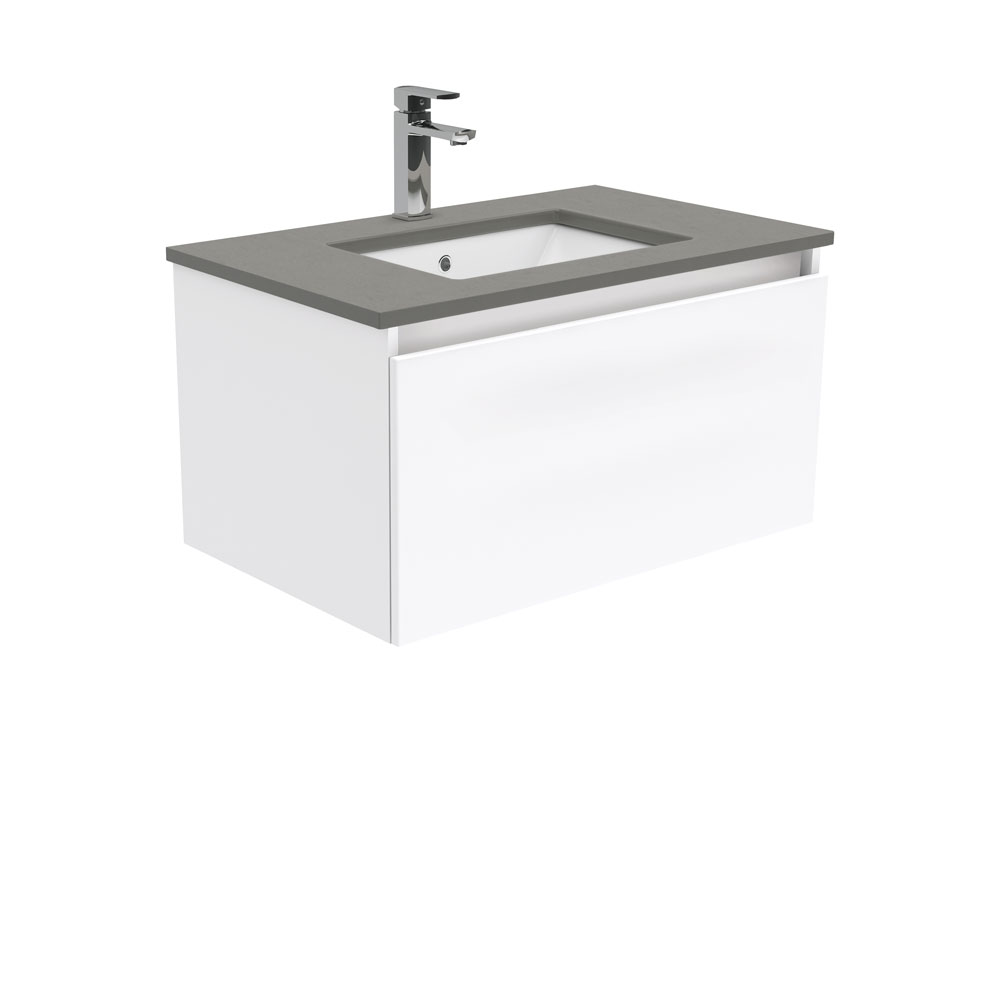 Sarah Dove Grey Manu 750 Wall Hung Vanity