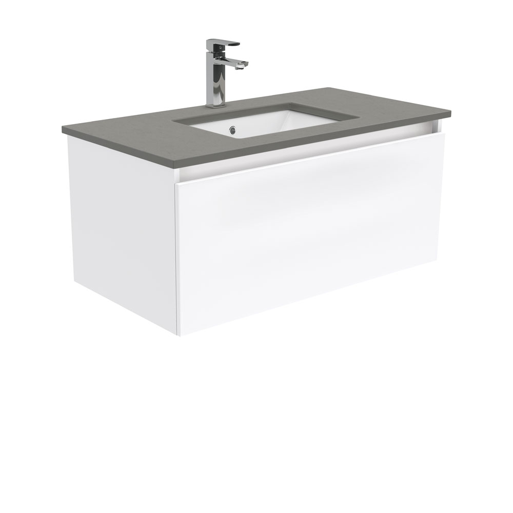 Sarah Dove Grey Manu 900 Wall Hung Vanity