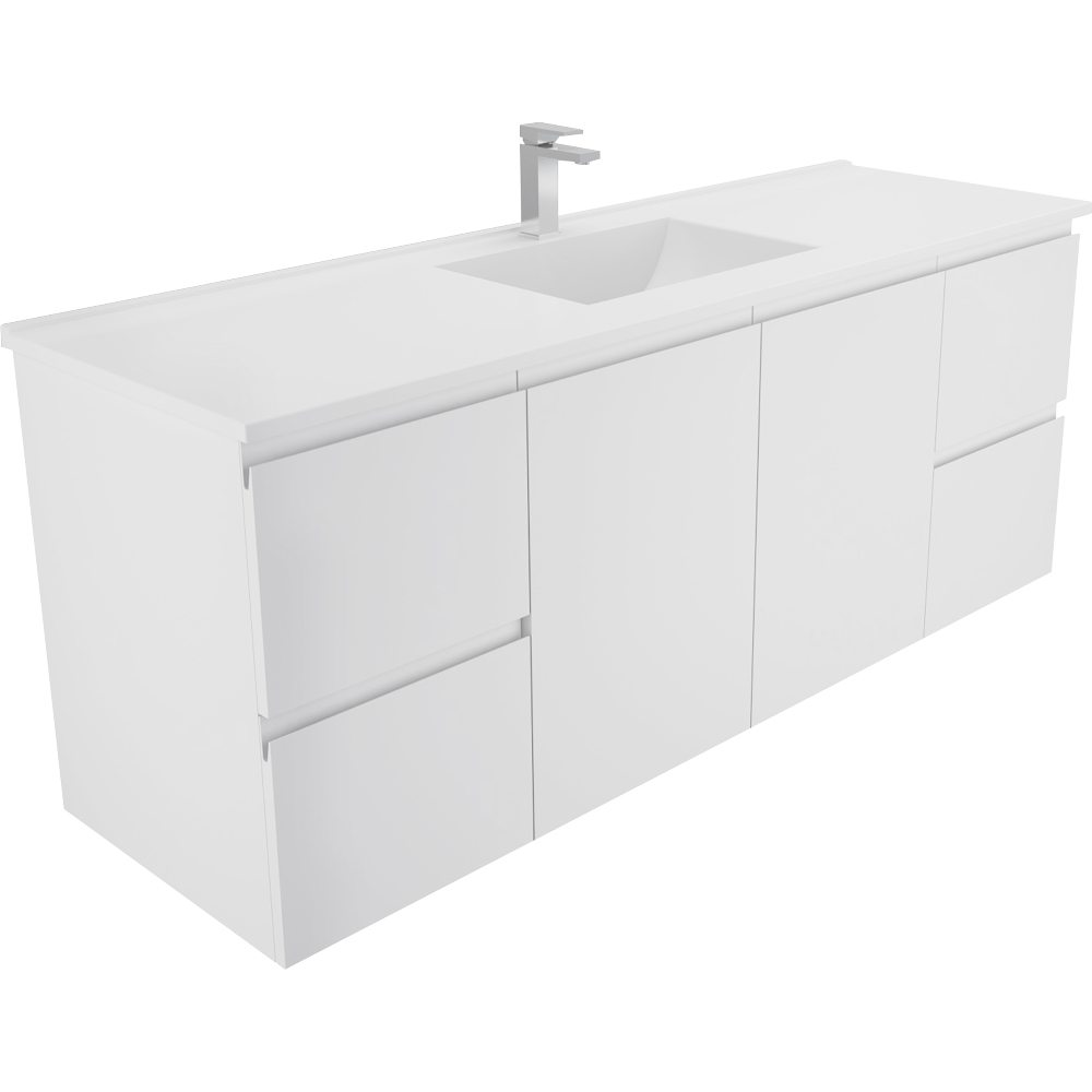 Vanessa  1500 Single Finger Pull Wall Hung Vanity