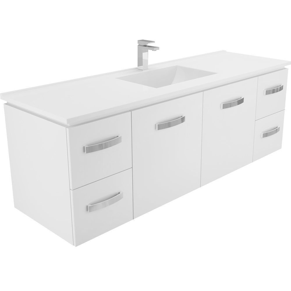 Vanessa  1500 Single Wall Hung Vanity