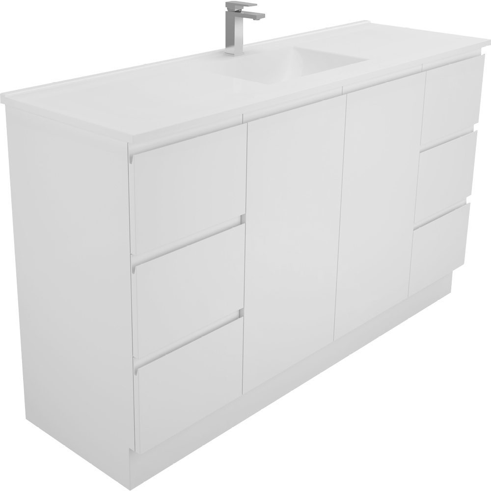 Vanessa 1500 Single Finger Pull Kicker Vanity