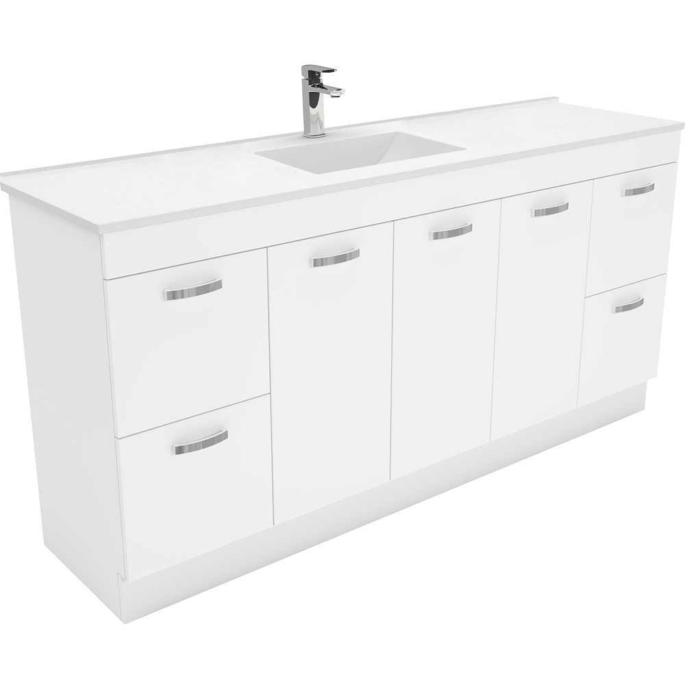 Vanessa 1800 Single Kicker Vanity