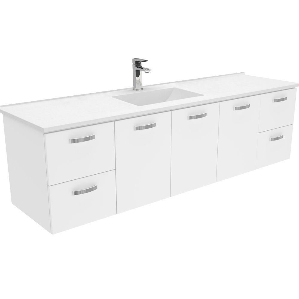 Vanessa 1800 Single Wall Hung Vanity