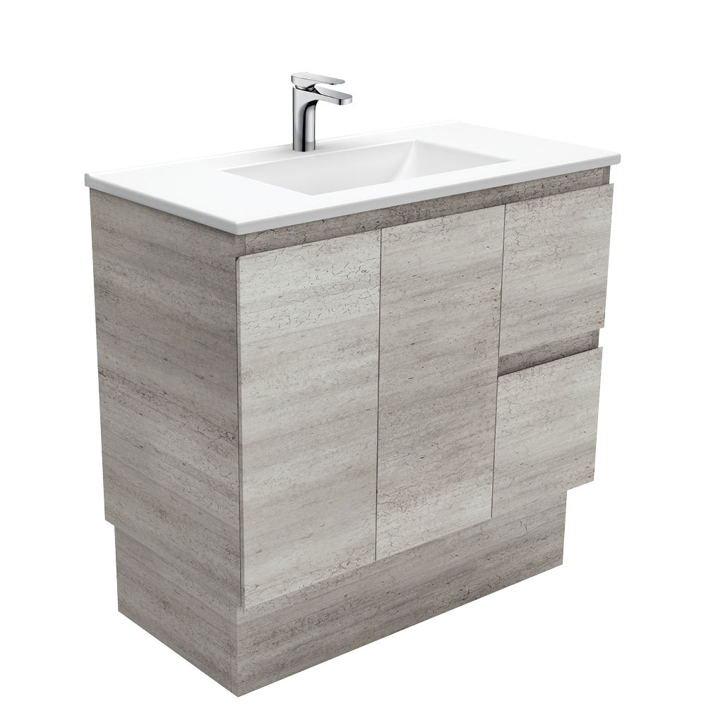 Vanessa Edge Industrial 900 Vanity on Kickboard